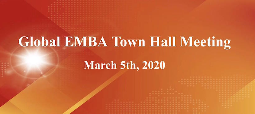 A leading global EMBA program in China held Town Hall Meeting among students and professors online